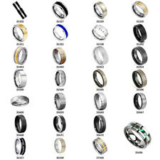 Tungsten Carbide Promise Ring Wedding Band Gold Black Silver Blue Celtic sz 6-13