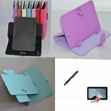 "Colorful Rotary PU Case/Film/Pen For 7"" Alcatel ONE TOUCH EVO7/7HD/Tab 7/Pop7/7S"