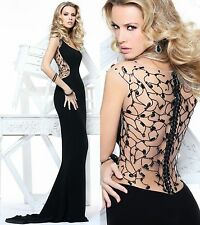 2014 Black Sexy New Custom Gowns Beaded Mermaid Formal Long Wedding Dresses
