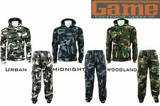 Mens GAME Army Camo Camouflage Fleece Tracksuit Hoodie / Joggers