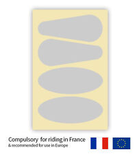 Hi Vis Reflective Temporary Motorcycle Helmet Stickers x4 FOR USE IN FRANCE