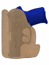 New Barsony Tan Leather Pocket Holster Kimber Ruger Small 380 Ultra Comp 9mm 40