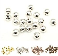 Silver/Golden//Copper Plated Seamless Ball Findings Copper Spacer Beads 6/8mm