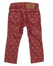 $108 NEW True Religion Jeans Kids Girls Casey Star Fuschia Skinny Legging Pants