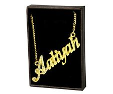 "Name Necklace ""AALIYAH"" – 18K Gold Plated 
