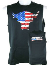 WWE AUTHENTIC The Rock Team Bring It USA Black Sleeveless Muscle T-shirt - NEW