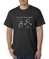 I've I Got Your Back Funny Stick Figures Humor T-Shirt S-5XL