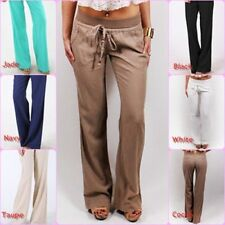 New Women's LOVE TREE Linen w/ Drawstrings Banded Waist Yoga Pants S,M,L Colors