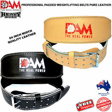 DAM 4INCH WIDE WEIGHT LIFTING BELT. WEIGHTLIFTING BODYBUILDING GYM BACK SUPPORT