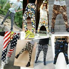 Fashion Womens Casual Elastic Waist Hip-hop Harem Pants Trousers 14 Colors LJN