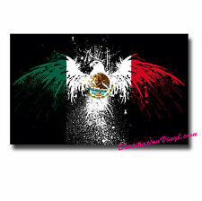 2 x Glossy Vinyl Stickers - Mexico Flag Bird Paint Splat Cool Gift Mexican #0007