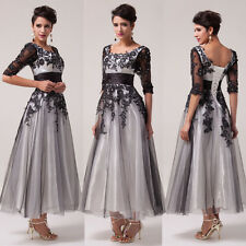 Vintage Lace+Tulle Formal Party Ball Gowns Bridesmaid Dress Evening Prom Dresses