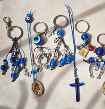 EVIL EYE CAR KEYCHAIN CHARMS DOLPHIN HORSE SHOE HELLO KITTY BEADS GREEK HOLDER