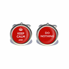 Keep Calm and Do Nothing Cufflinks with Personalised Engraved Gift Box