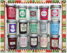 1 BATH BODY WORKS HOME CHRISTMAS HOLIDAY WINTER MASON JAR CANDLE YOU CHOOSE
