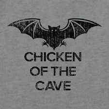 New CHICKEN OF THE CAVE Bat Shirt, Mens & Womens, Burgundy Anchorman Parody, RPG