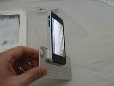 ULTRA THIN SILVER ALUMINUM BLUETOOTH KEYBOARD BLACK OR WHITE CASE FOR IPHONE 5