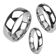 Tungsten Carbide Mirror Polish Dome Band His/Hers Wedding Ring sz 4.5-14, 2-8mm