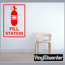 C02 Fill Station Sign Paintball Vinyl Wall Decal or Car Sticker - MC02