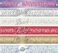 Happy Anniversary Banners 25 30 40 50 60 Party Decorations for Anniversary