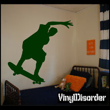 Tail Slide Boarder Skateboarding Vinyl Wall Decal or Car Sticker - ST004