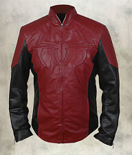 The Amazing Spiderman Faux Leather Men's Shield Jacket in Red & Black