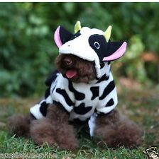 Warm Winter Costume Fun Cow Onesie Apparel Cute Clothes for Pet Dog, Puppy Cat