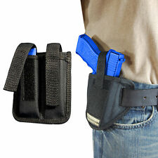 New Barsony Ambi Pancake Holster + Dbl Mag Pouch CZ EAA FEG Full Size 9mm 40 45