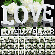 8X1.2CM Wooden Letter Bridal Wedding Party Alphabet Birthday Toy Home Decoration