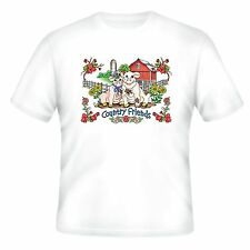 Decorative Country T-shirt Country Friends Barn Farm Pigs