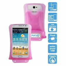 Pink 100% Waterproof Underwater Housing Case Sleeve Pouch for Smartphone Phone