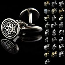 New High Quality Luxury Lot Vintage Mens Wedding Party Smooth Shirt Cufflinks