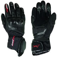 Gloves Leather Professional Textile Motorcycle Motorbike WaterProof  Thermal