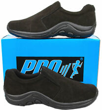 Mens New Black Suede Leather Slip On Casual Shoes Size 6 7 8 9 10 11 12 13 14