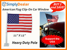USA World Cup American Flag - Clip-on Car Window Flag