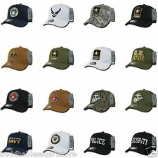 1 Dozen Army Air Force Navy Marines Police Security TRUCKER Hats Hat Cap Caps