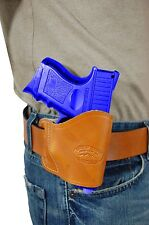 New Barsony Saddle Tan Leather Yaqui Gun Holster Taurus Compact 9mm 40 45