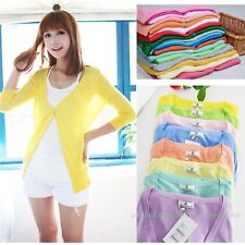 Hot sale 17 colors Womens Lightweight Cardigan Ladies Summer Sheer Thin Knit Top