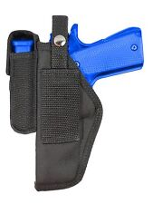 New Barsony Gun Belt Loop Holster w/ Mag Pouch Browning Colt Full Size 9mm 40 45