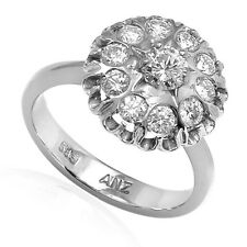 Russian Jewelry 14k Solid White Gold 1.05 ct Diamond Engagement Ring #R1878