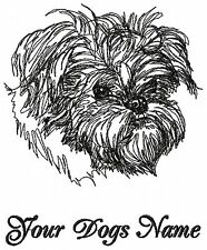 Personalized BRUSSELS GRIFFON Embroidered Dog Breed T-shirt / Size 2x TO 4x