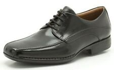 FRANCIS AIR- MENS CLARKS BLACK LEATHER LACE UP FORMAL SMART OFFICE SHOES FIT G
