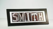 Framed Name Sign w/ Industrial Letter Photographs - Personalized Wedding Gift