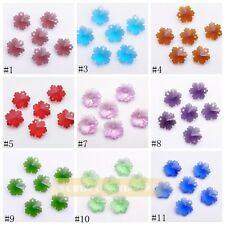 10pcs Exquisite Faceted Glass Crystal Charms Loose Snowflake Pendant 14mm New