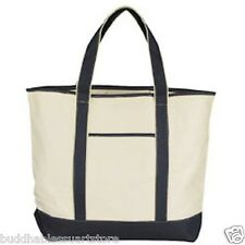 "3 Pack Canvas Reusable Grocery Beach Shopping Tote Totes Bags 22"" Wholesale"