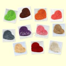 Multicolor Bedroom Door Mat Heart Shaped Carpet Fluffy Chenille Rug Cushion GBW