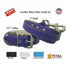Leather Collars and Leashes for Big Dogs - Quality Leather Dog Collars - XL