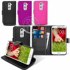 Book Wallet Leather Case Cover Pouch For LG G2 Mini D620