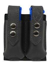 NEW Barsony Black Leather Double Magazine Pouch Colt Beretta Full Size 9mm 40 45