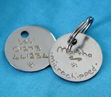 PET ID TAGS ENGRAVED BOTH SIDES BY HAND + SPLIT RINGS DOG DISCS CAT DISCS ID TAG